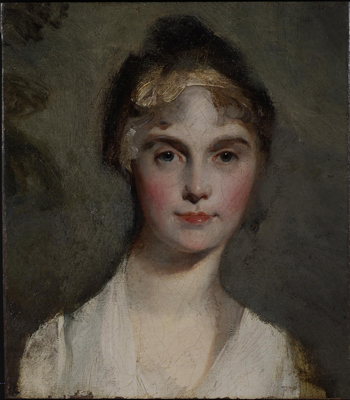 Portrait sketch of the head of a lady, Sir Thomas Lawrence PRA