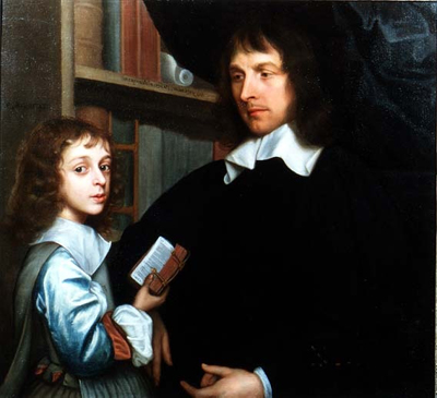Portrait of Lady Mary Fairfax (1638-1704), with her Tutor, c.1645, Robert Walker