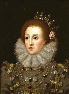 Portrait of Queen Elizabeth I 1533 - 1603,  Anglo-French School
