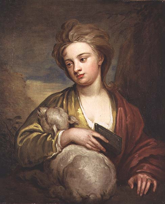 Portrait of Miss Voss as St Agnes, Sir Godfrey Kneller Bt.