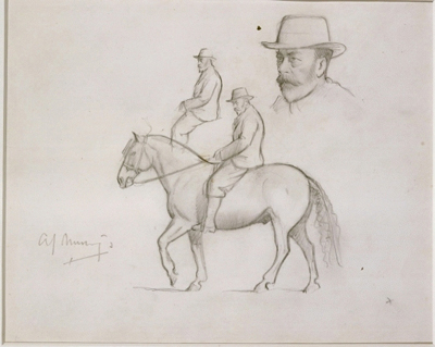 Study drawings for a portrait of King George V (1865-1936), Sir Alfred Munnings PRA