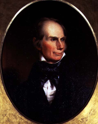 Portrait of Henry Clay 1777 - 1852, painted for his election campaign, 1842, John Neagle