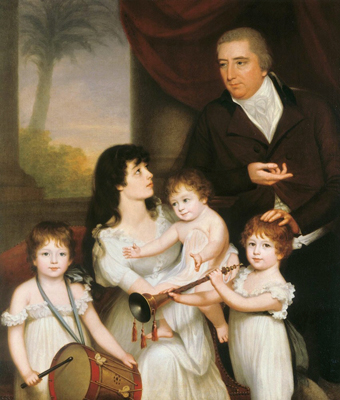 Portrait of Sir William Fairlie and Family, 1800, Robert Home