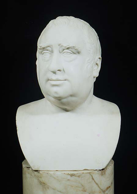Portrait Bust of Charles James Fox 1749-1806, Joseph Francis Nollekens RA, Studio of