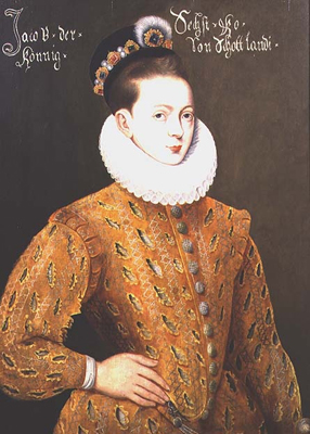 Portrait of James I of England and James VI of Scotland 1566-1625, Adrian Vanson