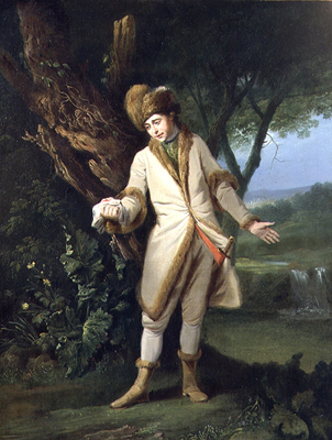 Portrait of the Actor William Powell 1735-69, as Posthumous in Cymbeline, Francis Wheatley