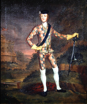 The Harlequin Portrait of Bonnie Prince Charlie, John Worsdale Attributed to