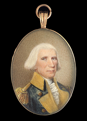 Portrait miniature of Elias Dayton (1737-1807), wearing the uniform of the American (Continental) Army, his hair powdered, American School