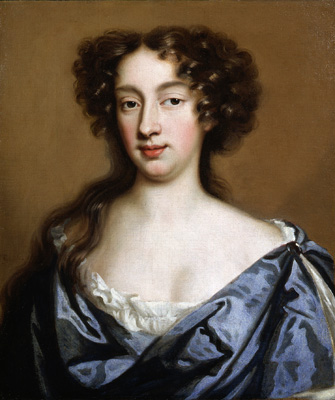 Portrait of a lady in a blue dress, Mary Beale
