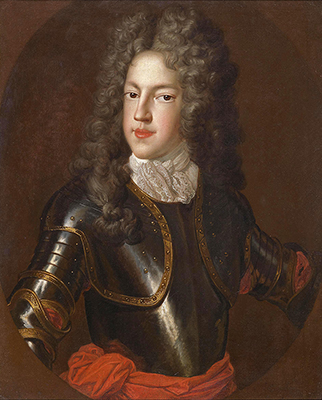 Portrait of Prince James Francis Edward Stuart, the 'Old Pretender' (1688-1766), c.1712, Studio of Alexis Simon Belle