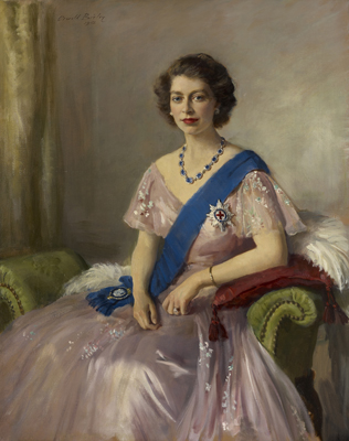 Portrait of HM Queen Elizabeth II (b.1926), when Duchess of Edinburgh, Sir Oswald Birley