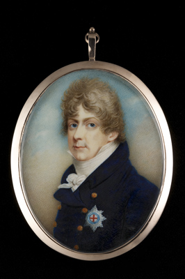 Portrait miniature of George IV when the Prince of Wales, Richard Bull