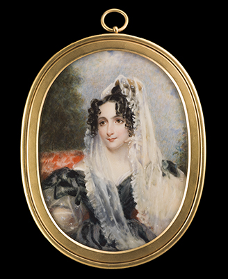 Portrait miniature of a Lady, Alfred Edward Chalon