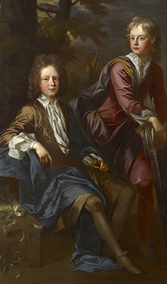 Portrait of George and Thomas Dashwood (1680-1758) (d.1738), John Closterman