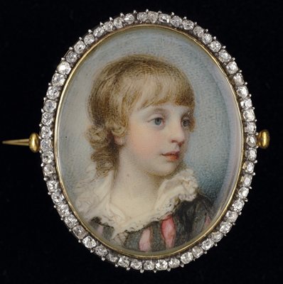 Portrait miniature of a Young Boy, thought to be George John, 2nd Earl Spencer (1758 –1834), Richard Cosway