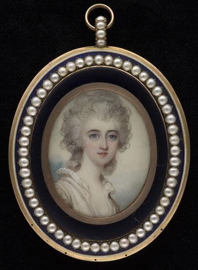 Portrait of a Viscountess, probably Philadelphia Hannah Dawson, Viscountess Cremorne (c.1740-1826), Richard Cosway