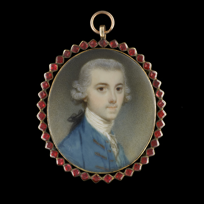 Portrait miniature of John Taylor, later Sir John Taylor, 1st Baronet of Lysson Hall, Jamaica (1745-1786), Richard Crosse