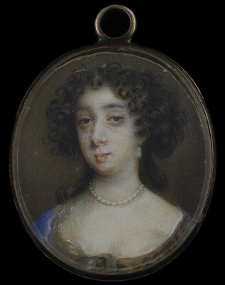 Portrait miniature of Barbara Villiers, Countess of Castlemaine (1640-1709) c.1776, Nicholas Dixon