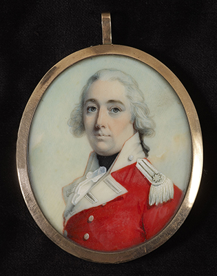 Portrait miniature of an Officer in Red, John Donaldson