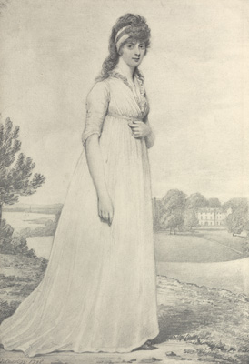 Portrait of The Hon. Theresa Parker, later the Hon. Mrs. George Villiers (1775-1856), 1798, Henry Edridge