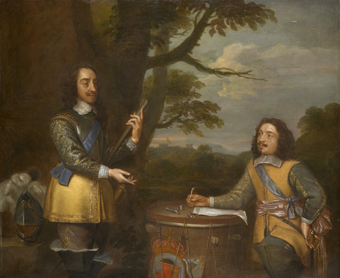 Portrait of Charles I (1600-1649) with Sir Edward Walker (1612-1677),  English School 17th Century
