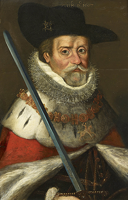 Portrait of King James VI & I (1566-1625),  English School Early Seventeenth Century
