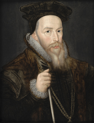 Portrait of William Cecil, Lord Burghley (1520-1598),  English School 17th Century