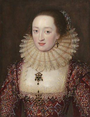 Portrait of a Lady in Red Dress, c.1615,  English School
