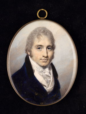 Portrait miniature of a gentleman, George Engleheart