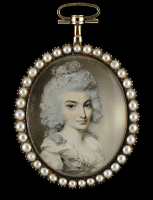 Portrait miniature of a Lady, 1780s, George Engleheart