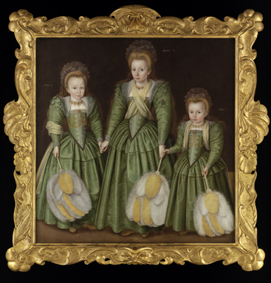 Portrait of the Three Egerton Sisters,  English School c.1600