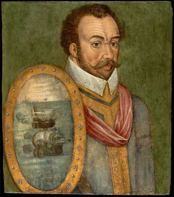 Portrait of Sir Francis Drake (c.1540–96), c.1580,  Anglo-French School
