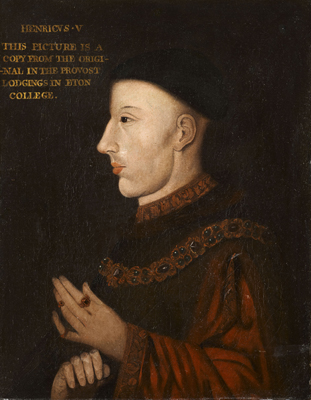 Portrait of King Henry V (c.1387-1422),  English School Early Seventeenth Century