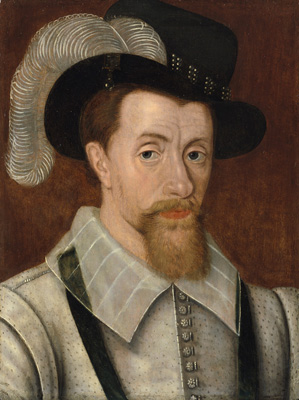 Portrait of King James I and VI (1566-1625),  English School 17th Century