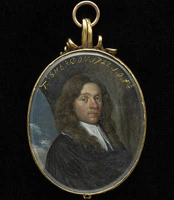 Portrait miniature of a Gentleman called 'T. Sheridon',  English School 17th Century