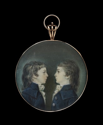 Portrait of Two Brothers, Louis and Charles de Rassi,  French School