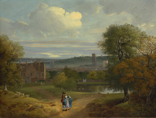 View of Ipswich from Christchurch Park, Thomas Gainsborough RA