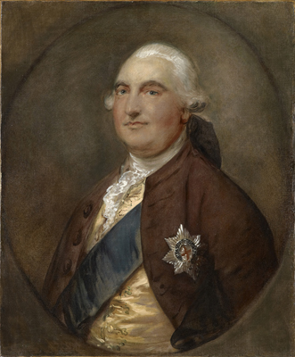 Portrait of William Petty, 2nd Earl of Shelburne and 1st Marquess of Lansdowne, Thomas Gainsborough RA