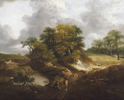 A Landscape, traditionally identified as a View Outside Sudbury, Thomas Gainsborough RA