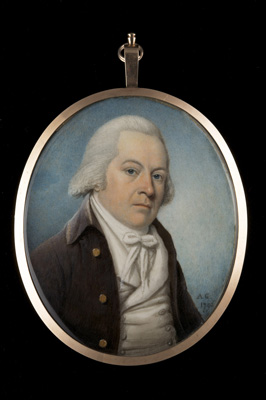 Portrait miniature of a Gentleman, 1794, Alexander Gallaway