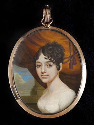 Portrait miniature of a Lady, Alexander Gallaway