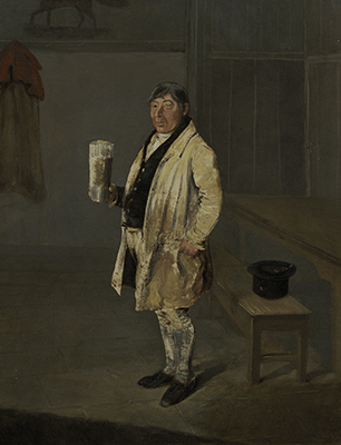 Portrait of a Coachman from Bramham Park, Yorkshire, identified as William Fox, 1822, George Garrard