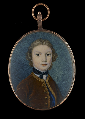 Portrait minature of a Young Boy, thought to be John Crewe, later 1st Baron Crewe (1742-1829) of Crewe Hall, Cheshire, Gervase Spencer