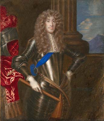 Portrait miniature of James II as Duke of York, Richard Gibson