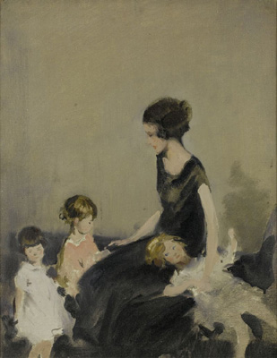 Gwen with Diana, Elizabeth and Pauline Gunn, Sir Herbert James Gunn