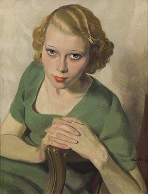 'Sonja in Green', c.1932, Sir Herbert James Gunn