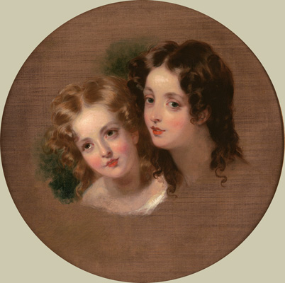A Study of Two Heads of Children, George Henry Harlow