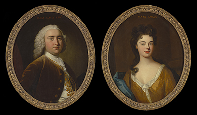 Pair of portraits depicting Eliab Harvey (1716-69), and his mother, Mary Harvey (née Williamson), Thomas Hudson (1701-79) and Charles D'Agar (1686-1761)