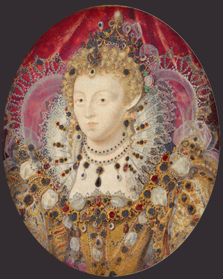 Portrait miniature of Queen Elizabeth I, c.1595, Nicholas Hilliard