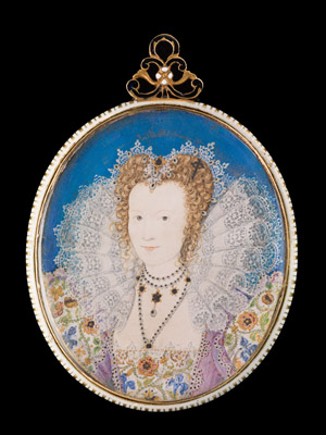 Portrait miniature of a Lady of the Tudor Court, Nicholas Hilliard